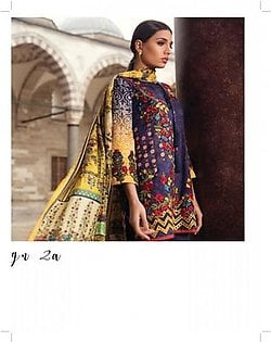 MINA HASAN BY SHARIQ Embroidered Lawn Suit MINA18 2A in Pakistan