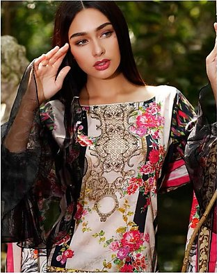 Al Zohaib Printed Lawn Suit SSPR18 3A in Pakistan