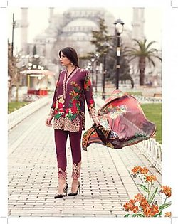 MINA HASAN BY SHARIQ Embroidered Lawn Suit MINA18 6B in Pakistan