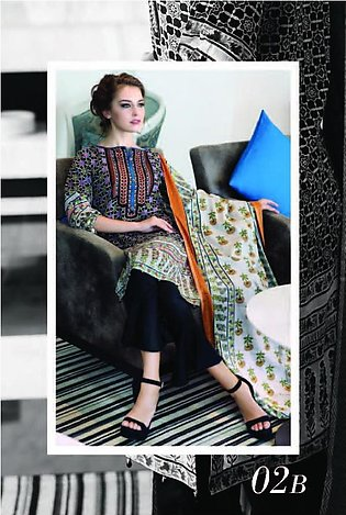 MONSOON BY AL-ZOHAIB Printed Lawn Suit MSPL18 2B in Pakistan