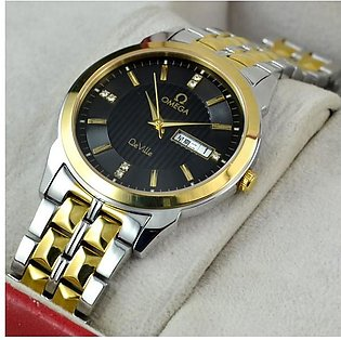 Omega De Ville Day And Date Black Round Watch in Pakistan