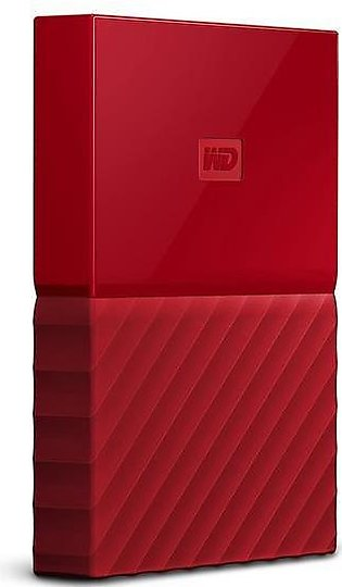 WD - My Passport 1TB External USB 3.0 Portable Hard Drive - Red (WDBYNN0010BR...