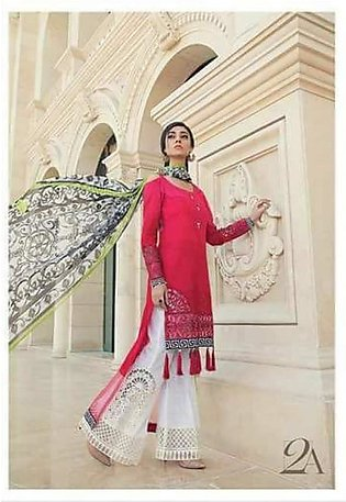 MARIA.B Luxury Embroidered Lawn Suit MBL18 2A in Pakistan