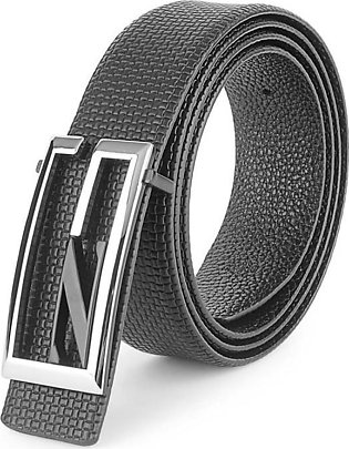 GUCCI Silver G Buckle - Black Knotted Textured Belt in Pakistan