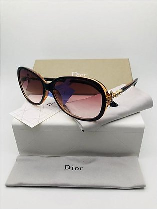 Dior Brown Glass And Black Frame Sunglasses in Pakistan