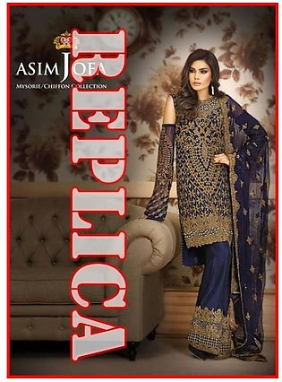 Asim Jofa Embroidered Cotton Front Shirt AJMC17 5A RP in Pakistan
