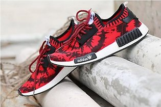 New Stylish Design Red And Black Sports Shoes in Pakistan