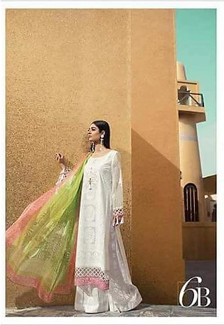 MARIA.B Luxury Embroidered Lawn Suit MBL18 6B in Pakistan