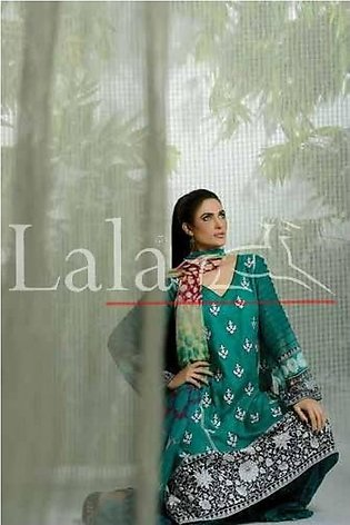 LALA TEXTILES Embroidered Lawn Suit LFL 6A in Pakistan