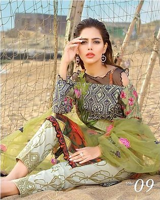 MARJAAN BY SIFONA Embroidered Lawn Suit MRJ18 09 in Pakistan
