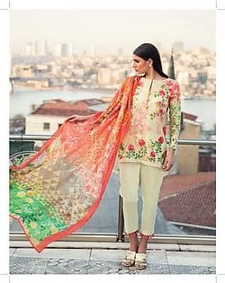 MINA HASAN BY SHARIQ Embroidered Lawn Suit MINA18 4A in Pakistan