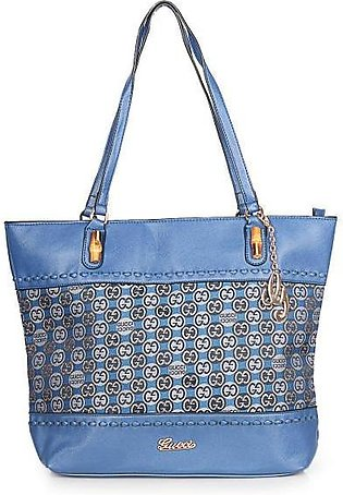 GUCCI Laidback Crafty GG Canvas Tote Bag - Blue Hand Bag in Pakistan