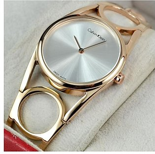CK BANGLE TIME ONLY COPPER ELECTROPLATED STAILESS STEEL WATCH in Pakistan