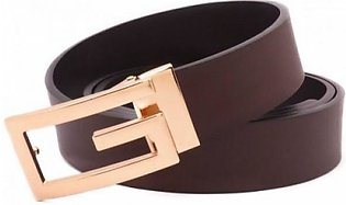 Gucci Genuine Leather Brown Golden Belt (AAA) G-08 MY in Pakistan