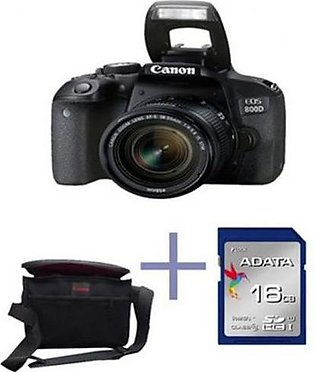 CANON EOS 800D Dslr Camera With 18-55Mm Lens 16Gb Card Kit Bag - Black in Pak...