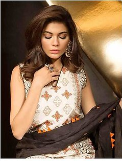 MAHGUL BY AL ZOHAIB Luxury Embroidered Lawn Suit MGLE18 3B in Pakistan