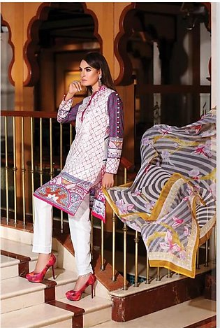 NADIA HUSSAIN Embroidered Lawn Suit NAD 7B in Pakistan