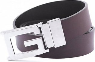 Gucci Genuine Leather Brown Silver Belt (AAA) G-07 MY in Pakistan