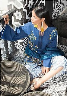 MAHGUL BY AL ZOHAIB Luxury Embroidered Lawn Suit MGLW 2B in Pakistan