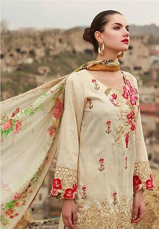 MAHIYMAAN BY AL-ZOHAIB Embroidered Lawn Suit MHM18 11 in Pakistan