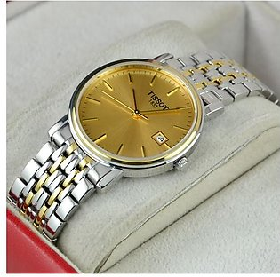 TISSOT 1853 Date And Time Silver And Gold Watch in Pakistan