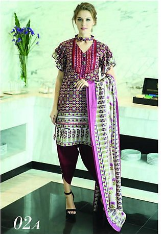 MONSOON BY AL-ZOHAIB Printed Lawn Suit MSPL18 2A in Pakistan