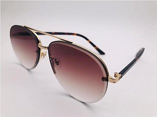 Gucci Brown Glass Gold And Cheetah Print Frame 42302 SUNGLASSES in Pakistan