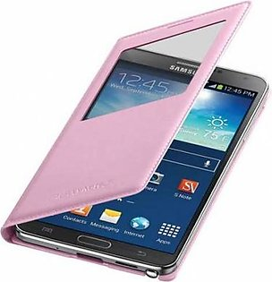 Mobile Accessories Samsung Galaxy Note 3 S-View Flip Cover Soft Pink EF-CN900BIE in Pakistan