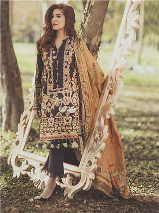 RANG RASIYA Premium Embroidered Lawn Suit RRS18 9A in Pakistan