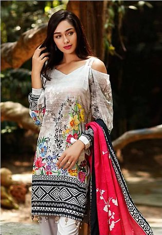 Al Zohaib Printed Lawn Suit SSPR18 2A in Pakistan