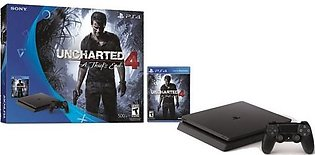 Sony Play Station 4 Slim Console - 500GB - Uncharted 4 Bundle - Black in Paki...