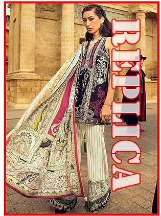 Elan Embroidered Lawn Suit With Printed Chiffon Dupatta EL17 12A RP in Pakistan