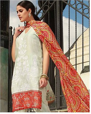 MAHIYMAAN BY AL-ZOHAIB Embroidered Lawn Suit MHM18 8A in Pakistan