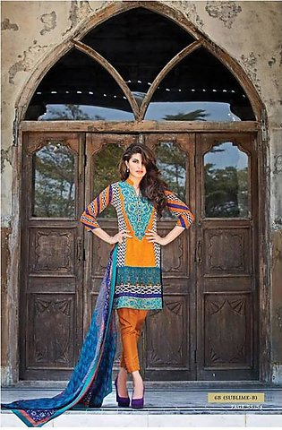 Zainab Chottani Embroidered Lawn Suit ZCL 6B in Pakistan