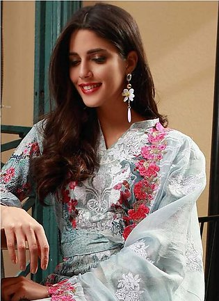 MAHIYMAAN BY AL-ZOHAIB Embroidered Lawn Suit MHM18 14 in Pakistan