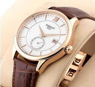 Tissot Classic 1853 Stylish White Dial Rose Gold Case Watch in Pakistan