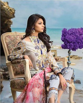 MARJAAN BY SIFONA Embroidered Lawn Suit MRJ18 04 in Pakistan