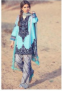 Zara Shahjahan Embroidered Lawn Suit ZS16 13 in Pakistan