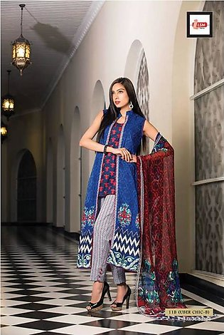 Zainab Chottani Embroidered Lawn Suit ZCL 11B in Pakistan