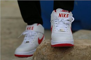 Nike White And Red Sport Shoes 06 in Pakistan