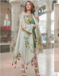 Carnation by Rang Rasiya Embroidered Lawn Suit With Chiffon Dupatta CRR 146A in Pakistan