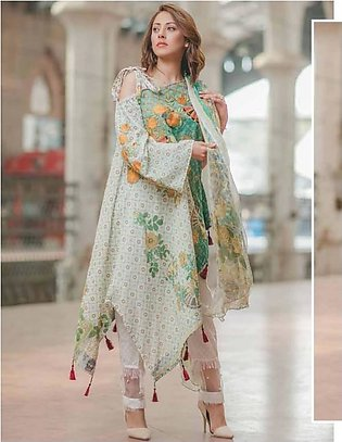 Carnation by Rang Rasiya Embroidered Lawn Suit With Chiffon Dupatta CRR 146A ...