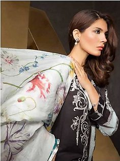 MAHGUL BY AL ZOHAIB Luxury Embroidered Lawn Suit MGLE18 7B in Pakistan