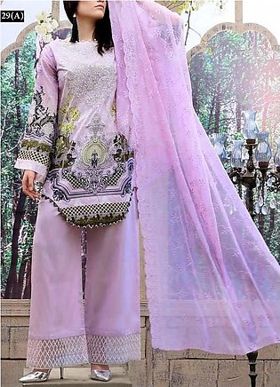 FAUSTINA BY SALITEX Embroidered Chikan Kari Suit FAUS18 29A in Pakistan
