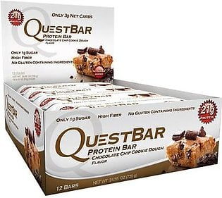 Questbar Protein Bar Chocolate Chip Cookie Dough Flavor 12 Bars Supplements in Pakistan
