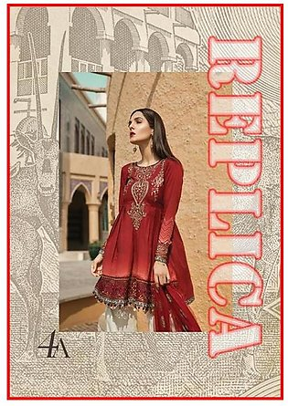 MARIA.B Embroidered Lawn Suit MB18 4A RP in Pakistan