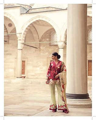 MINA HASAN BY SHARIQ Embroidered Lawn Suit MINA18 3A in Pakistan