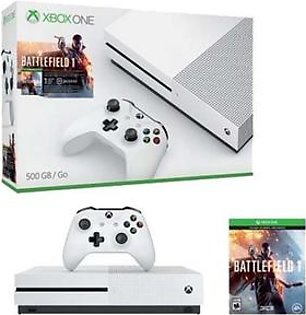 Microsoft Xbox One S - 1TB Console - Battlefield 1 - White in Pakistan