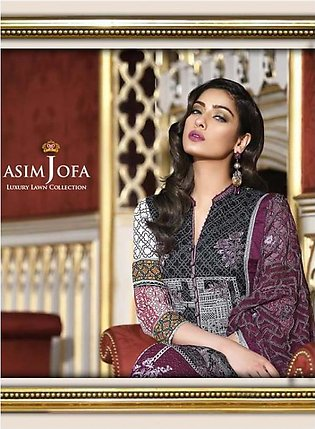 ASIM JOFA Luxury Embroidered Lawn Suit AJL18 8B in Pakistan
