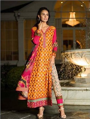 Asim Jofa Embroidered Cotton Suit AJC 1A in Pakistan